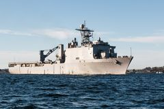 USS Rushmore Naval Vessel royalty free stock photography