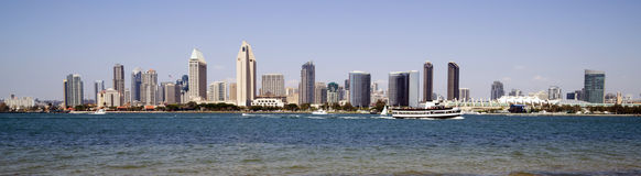 San Diego California Panoramic Downtown Royalty Free Stock Photos