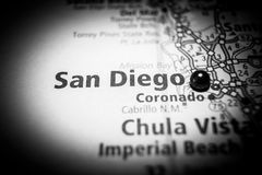 San Diego California Travel Destination Map stock photos