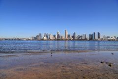 San Diego, California skyline from Coronado Island stock photos