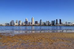San Diego, California skyline from Coronado Island. The San Diego, California skyline from Coronado Island royalty free stock photos