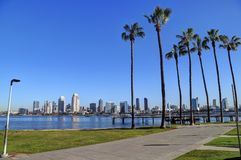 San Diego, California skyline from Coronado Island. The San Diego, California skyline from Coronado Island stock images