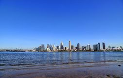 San Diego, California skyline from Coronado Island. The San Diego, California skyline from Coronado Island stock image