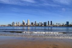 San Diego, California skyline from Coronado Island. The San Diego, California skyline from Coronado Island royalty free stock photography