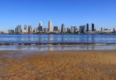 San Diego, California skyline from Coronado Island. The San Diego, California skyline from Coronado Island stock photos
