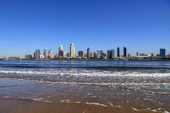San Diego, California skyline from Coronado Island. The San Diego, California skyline from Coronado Island stock photo