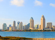 San Diego California, skyline of downtown. Business district on a beautiful sunny summer day Stock Images