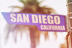 Free San Diego California Street Sign Stock Images - 51010114