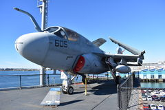 San Diego, California - USA - Dec 04,2016 - Electronic Warfare Aerospace in USS Midway Museum Stock Images
