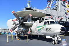 San Diego, California - USA - Dec 04,2016 - Hawkeye Airborne USS Midway Museum Royalty Free Stock Photos