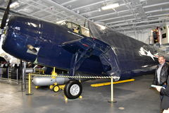 San Diego, California - USA - Dec 04,2016 - MIDN Carolo Nemo Nemer in USS Midway Museum Royalty Free Stock Photography