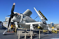 San Diego, California - USA - Dec 04,2016 - A1 Sky Raider Attack Aircraft USS Midway Museum Stock Photography