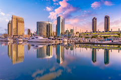 San Diego, California, USA. Downtown city skyline royalty free stock images
