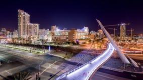 San Diego, California, USA downtown skyline stock video footage