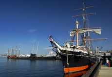 SAN DIEGO, California, USA - March 13, 2016: San Diego Maritime Museum in San Diego harbour, USA Stock Photo