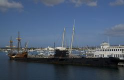 SAN DIEGO, California, USA - March 13, 2016: San Diego Maritime Museum in San Diego harbour, USA Royalty Free Stock Image