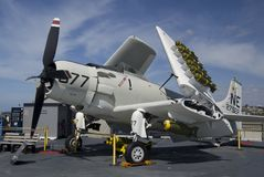 SAN DIEGO, California, USA - March 13, 2016: USS Midway in San Diego harbour, USA Royalty Free Stock Photos