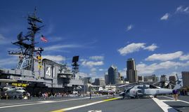 SAN DIEGO, California, USA - March 13, 2016: USS Midway in San Diego harbour, USA Stock Image