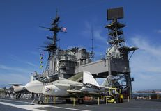 SAN DIEGO, California, USA - March 13, 2016: USS Midway in San Diego harbour, USA Stock Photography