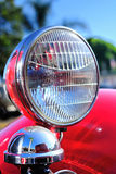 SAN-DIEGO, CALIFORNIA, USA - SEPTEMBER 08: Headlight of a vintag Royalty Free Stock Image