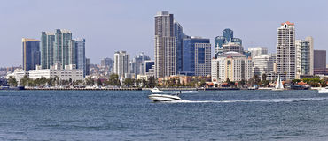 San Diego California waterfront skyline. Stock Photo