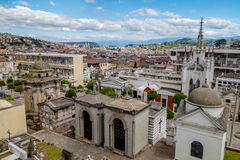 San Diego cemetary in old part Quito showing great Royalty Free Stock Image
