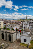 San Diego cemetery in old part Quito  Royalty Free Stock Images