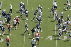 San Diego Chargers Practice. Many players of the San Diego Chargers during a practice at Qualcomm Stadium in 2007 stock photos