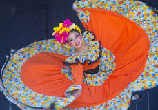 San Diego - Cinco De Mayo. SAN DIEGO - MAY 03 : Dancer Participates at the Cinco De Mayo festival in San Diego CA . on May 3, 2014. Cinco De Mayo Celebrates Royalty Free Stock Images