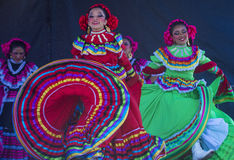 San Diego - Cinco De Mayo. SAN DIEGO - MAY 03 : Dancers Participates at the Cinco De Mayo festival in San Diego CA . on May 3, 2014. Cinco De Mayo Celebrates Royalty Free Stock Photo