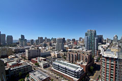 San Diego City Buildings Skyline. San Diego city skyline on a bright sunny summer day royalty free stock photography