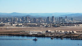 San Diego city center with Coronado in the foreground stock video footage