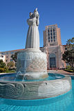 San Diego City and County Administration Building. Historic statue Guardian of Waters by Donal Hord is in foreground of the art deco designed (completed in 1938 royalty free stock image