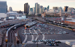 San Diego City Downtown Industrial Infrastructure stock images