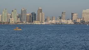 San Diego City Skyline Sunset Time Lapse stock video footage