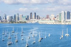 San Diego cityscape royalty free stock images