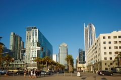 San Diego cityscape and street view stock images