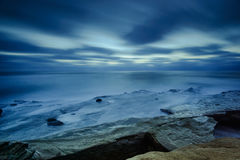 San Diego Coast. Cliffside picture of the pacific ocean in San Diego, California stock photos
