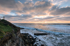 San Diego Coast. Cliffside picture of the pacific ocean in San Diego, California royalty free stock image