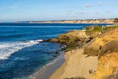 San Diego coast in a nice blue clear sky, California. Royalty Free Stock Photo