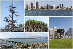 San Diego Collage Lizenzfreie Stockfotos