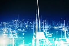 San Diego Concept Blue Fotografía de archivo
