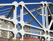 San Diego Constructions. Steel constructions in San Diego downtown, California Stock Photo