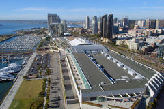 San Diego Convention Center Aerial View Royalty Free Stock Image