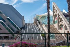 San Diego Convention Center - CALIFORNIA, USA - MARCH 18, 2019. San Diego Convention Center - CALIFORNIA, UNITED STATES - MARCH 18, 2019 stock image