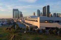 San Diego Convention Center en la puesta del sol Fotografía de archivo libre de regalías