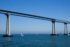 San Diego Coronado Bridge. The San Diego-Coronado Bridge, locally referred to as the Coronado Bridge, is a prestressed concrete/steel girder bridge, crossing stock photos
