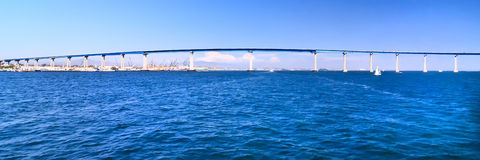 San Diego - Coronado Bridge Panorama Royalty Free Stock Photography