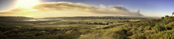 San Diego County Brush Fire,  California Stock Images