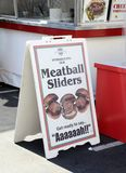 San Diego County Fair Scene. SAN DIEGO, CA -  JULY 2011:  Meatball slider sign from the San Diego County Fair, formally called the Del Mar Fair on July 1, 2011 Stock Photography